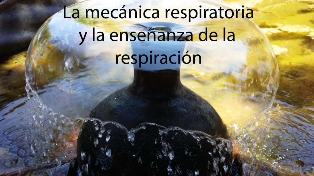 la mecánica respriatoria y la